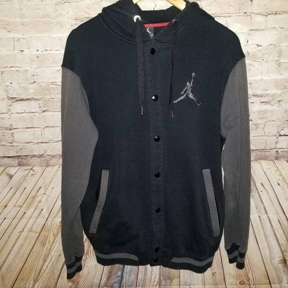 7192a20c9b4 Jordan Jackets & Coats | Jumpman Varsity Snap Hooded Jacket Medium ...